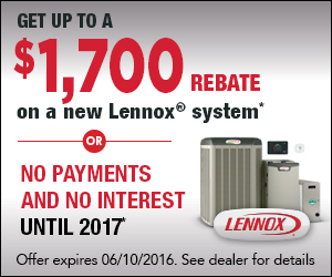 $1700 Rebate on New Lennox Systems